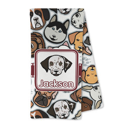 Dog Faces Microfiber Kitchen Towel (Personalized)