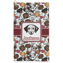 Dog Faces Microfiber Golf Towel - Large (Personalized)