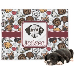 Dog Faces Minky Dog Blanket (Personalized)