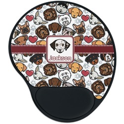 Dog Faces Mouse Pad with Wrist Support