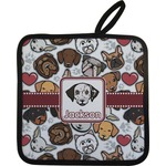 Dog Faces Pot Holder (Personalized)