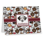 Dog Faces Note cards (Personalized)