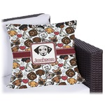 Dog Faces Outdoor Pillow (Personalized)