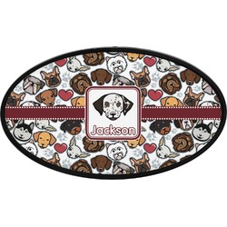 Dog Faces Oval Trailer Hitch Cover (Personalized)