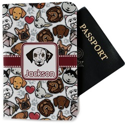 Dog Faces Passport Holder - Fabric (Personalized)