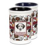 Dog Faces Ceramic Pencil Holder - Large