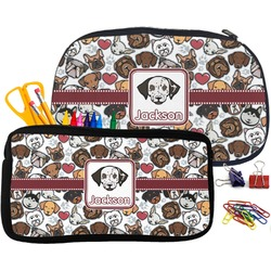 Dog Faces Neoprene Pencil Case (Personalized)