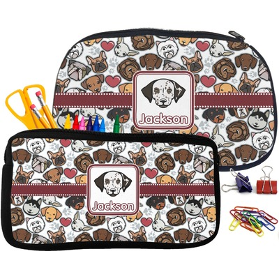 Dog Faces Pencil / School Supplies Bag (Personalized)