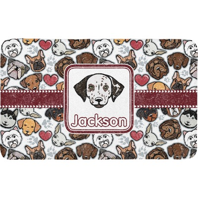 Dog Faces Bath Mat (Personalized)