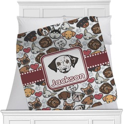 Dog Faces Minky Blanket (Personalized)