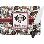 Dog Faces Rectangular Glass Cutting Board (Personalized)