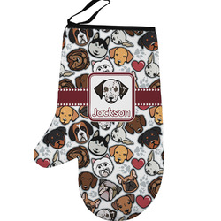 Dog Faces Left Oven Mitt (Personalized)