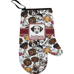 Dog Faces Right Oven Mitt (Personalized)