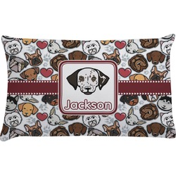 Dog Faces Pillow Case - King (Personalized)