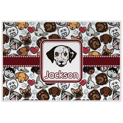 Dog Faces Laminated Placemat w/ Name or Text