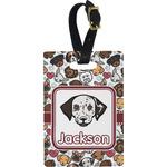 Dog Faces Rectangular Luggage Tag (Personalized)