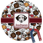 Dog Faces Round Magnet (Personalized)