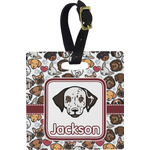 Dog Faces Square Luggage Tag (Personalized)