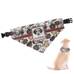 Dog Faces Dog Bandana (Personalized)