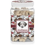Dog Faces Pet Treat Jar (Personalized)