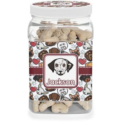 Dog Faces Pet Treat Jar (Personalized)