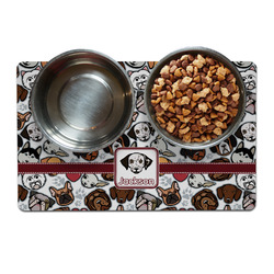 Dog Faces Dog Food Mat (Personalized)