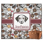 Dog Faces Outdoor Picnic Blanket (Personalized)