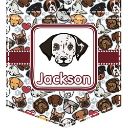 Dog Faces Iron On Faux Pocket (Personalized)