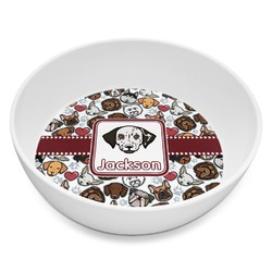 Dog Faces Melamine Bowl 8oz (Personalized)