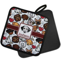 Dog Faces Pot Holder w/ Name or Text