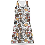 Dog Faces Racerback Dress (Personalized)