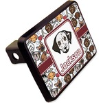 """Dog Faces Rectangular Trailer Hitch Cover - 2"""" (Personalized)"""