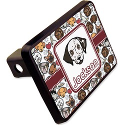 "Dog Faces Rectangular Trailer Hitch Cover - 2"" (Personalized)"