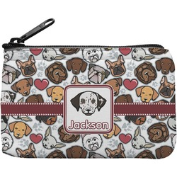 Dog Faces Rectangular Coin Purse (Personalized)