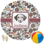 Dog Faces Round Beach Towel (Personalized)