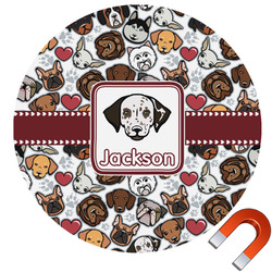 Dog Faces Car Magnet (Personalized)