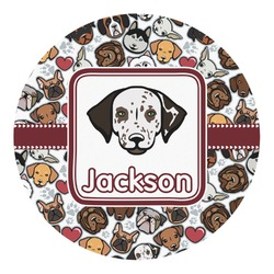 Dog Faces Round Decal (Personalized)
