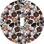Dog Faces Round Light Switch Cover (Personalized)