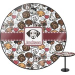 Dog Faces Round Table (Personalized)