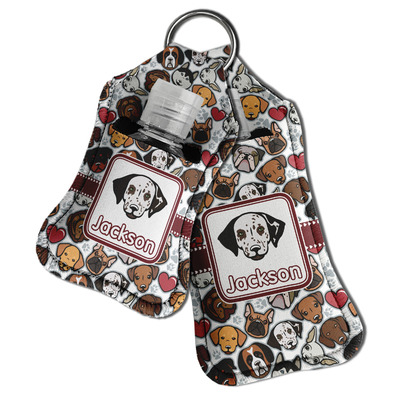 Dog Faces Hand Sanitizer & Keychain Holder (Personalized)
