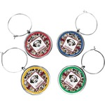 Dog Faces Wine Charms (Set of 4) (Personalized)
