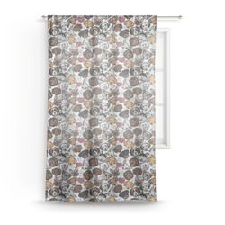 "Dog Faces Sheer Curtain - 50""x84"" (Personalized)"