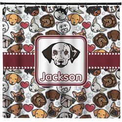 Dog Faces Shower Curtain (Personalized)