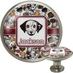 Dog Faces Cabinet Knob (Silver) (Personalized)