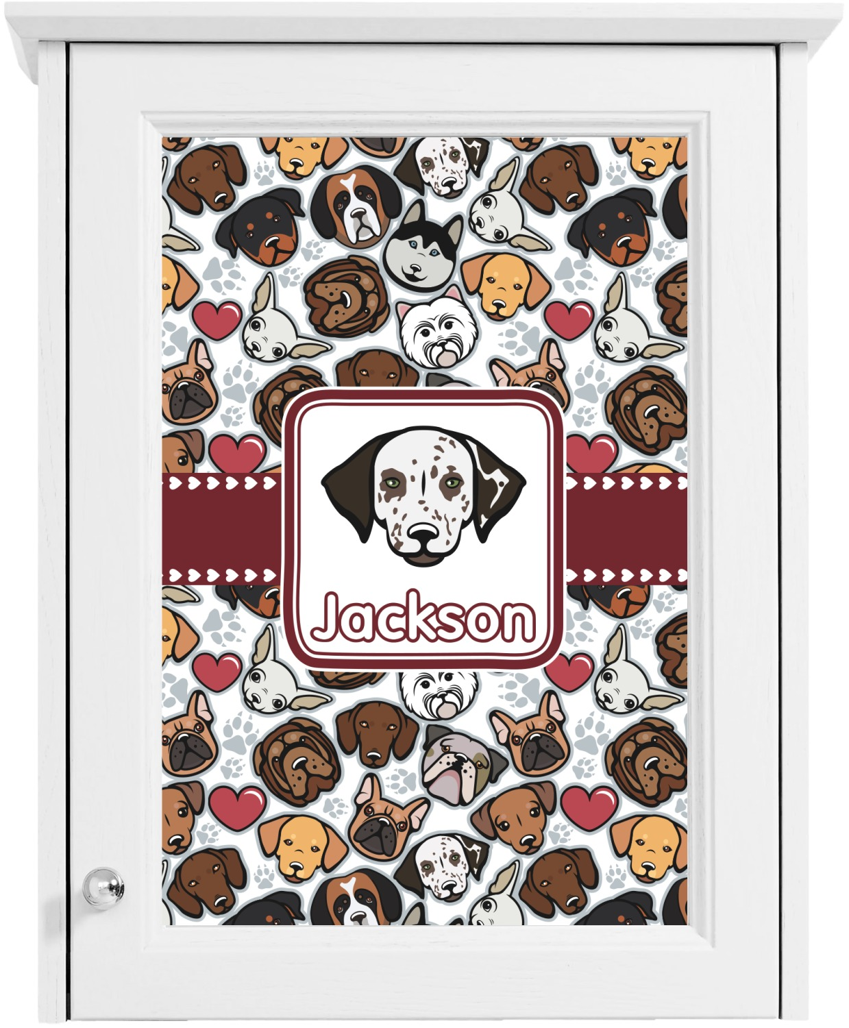 Dog Faces Cabinet Decal Medium Personalized Youcustomizeit