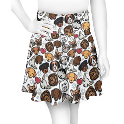Dog Faces Skater Skirt (Personalized)