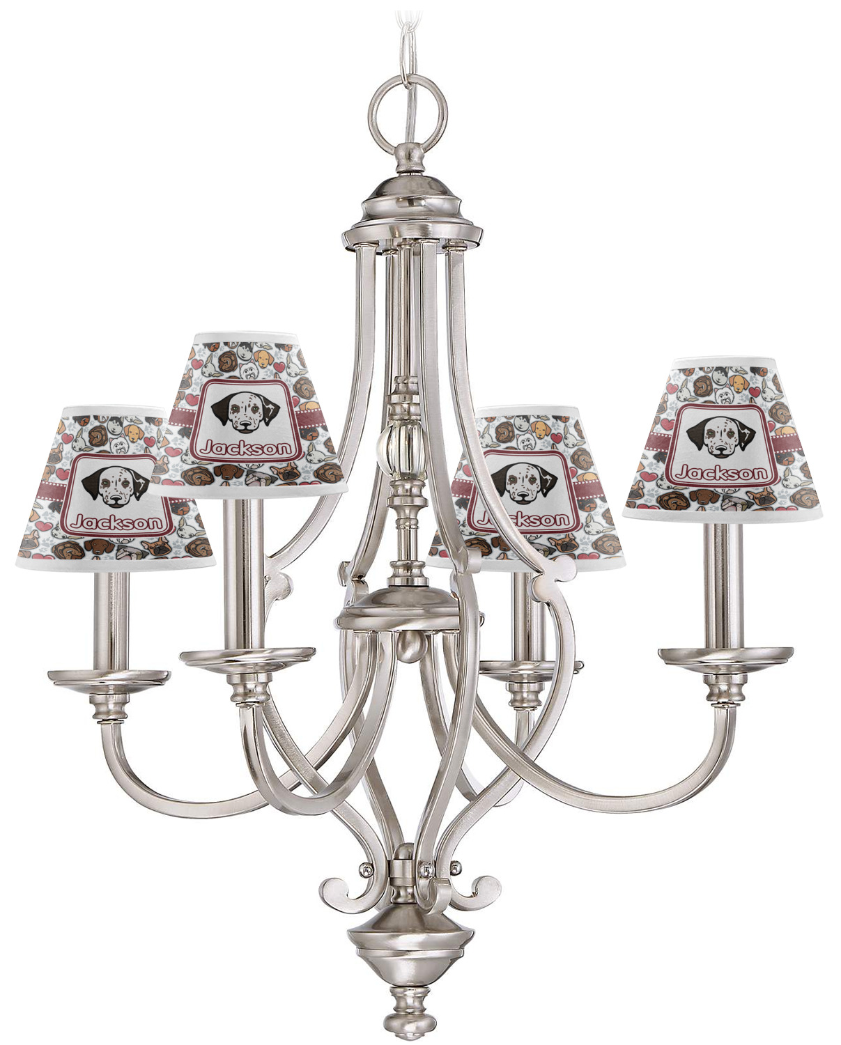 Dog Faces Chandelier Lamp Shade Personalized