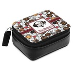 Dog Faces Small Leatherette Travel Pill Case (Personalized)