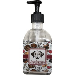 Dog Faces Soap/Lotion Dispenser (Glass) (Personalized)