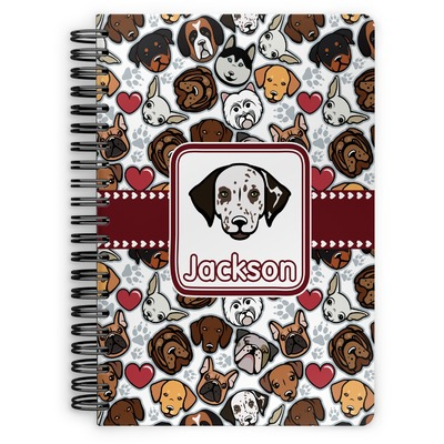 Dog Faces Spiral Bound Notebook (Personalized)